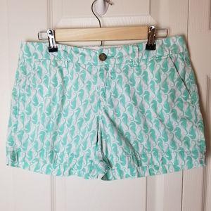 Seahorse Print Shorts Size 2 Old Navy Mint